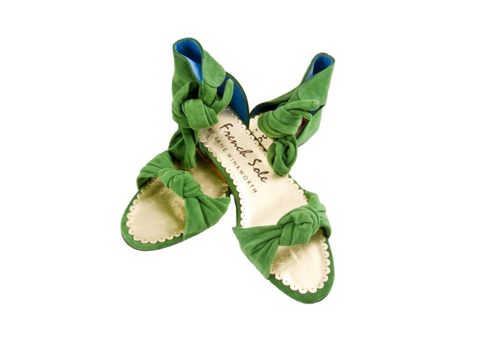 """Jennifer"" de French Sole, en verde."