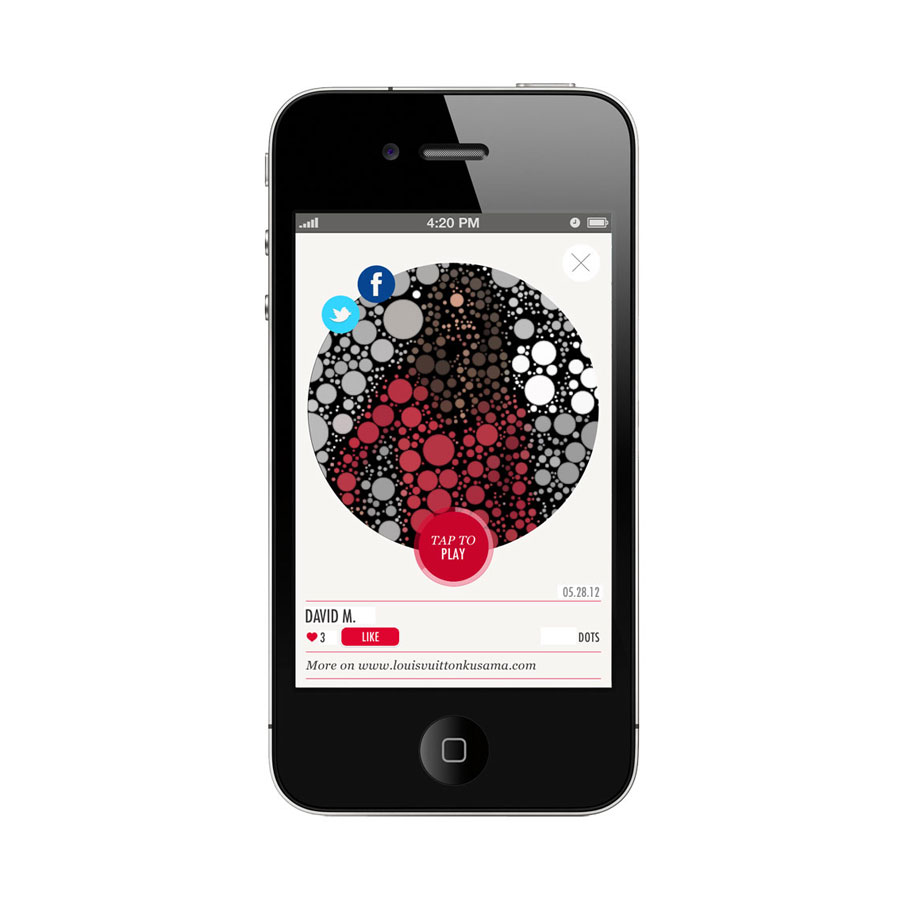 iPhone y arte, por Vuitton y Kusama.