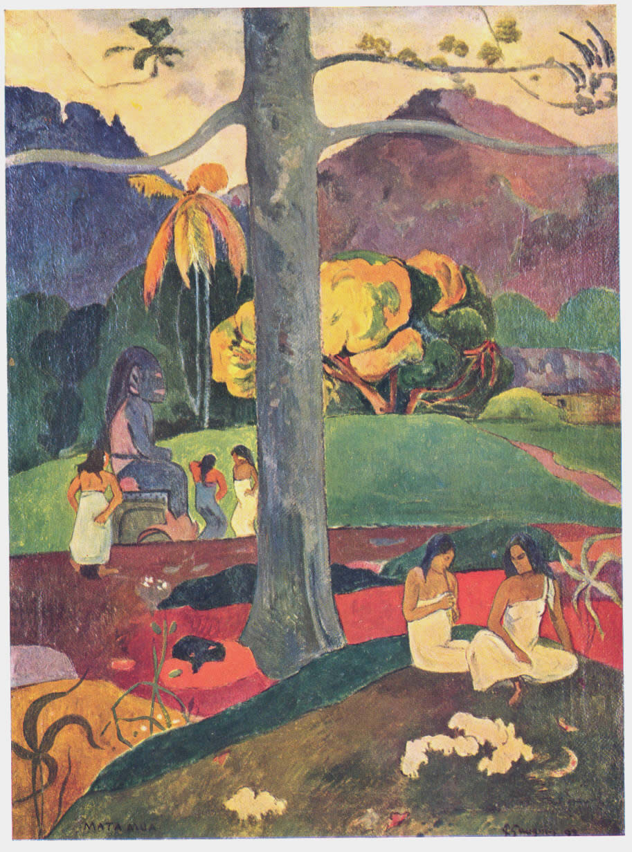 Mata Mua. Paul Gauguin.