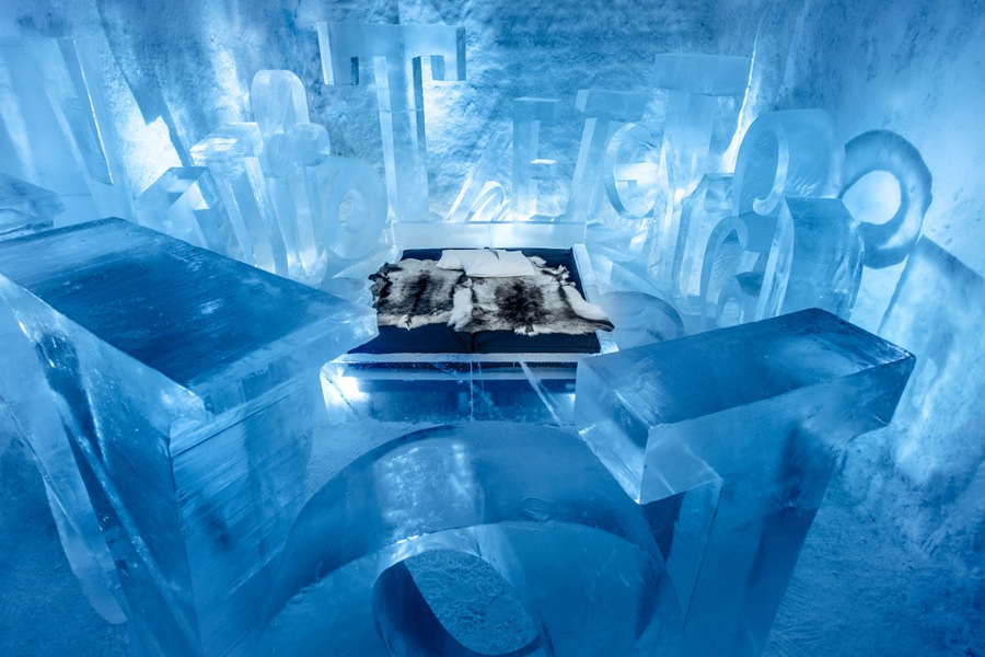 icehotel 365 el nuevo hotel de hielo y aurora boreal. Black Bedroom Furniture Sets. Home Design Ideas