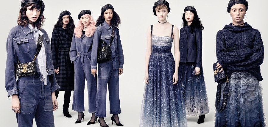 Maria Grazia Chiuri Fundida En Azul Para El Oto O Invierno De Dior