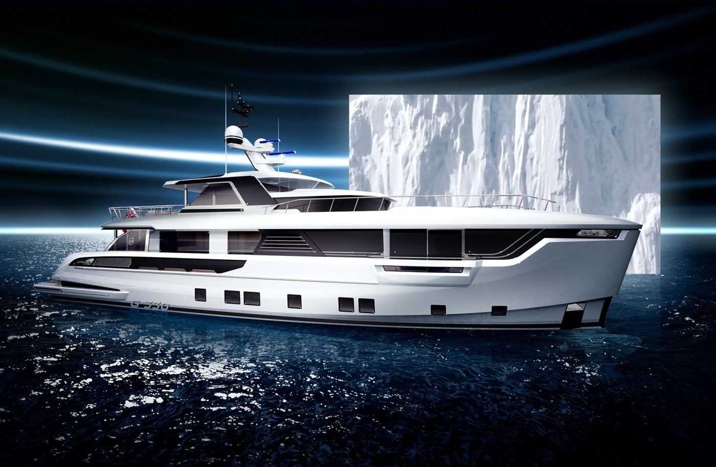 imagen 2 de Global 330, el primer yate para exploradores de Dynamiq Yachts.