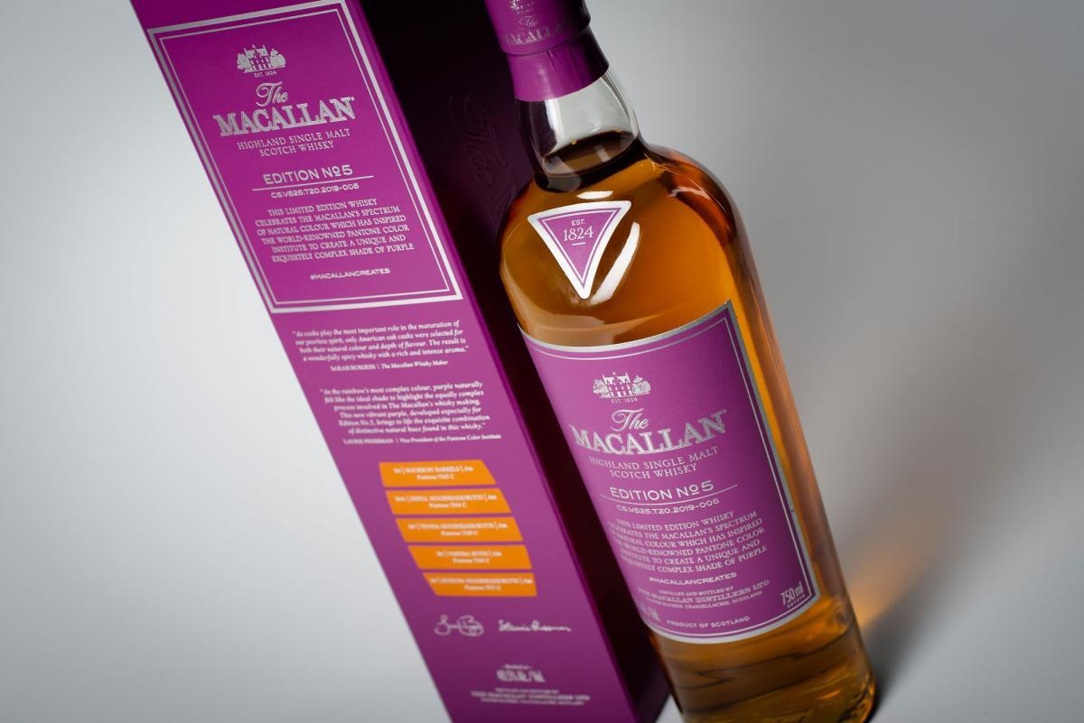 imagen 2 de The Macallan Edition N.5, la cara espirituosa del color púrpura.