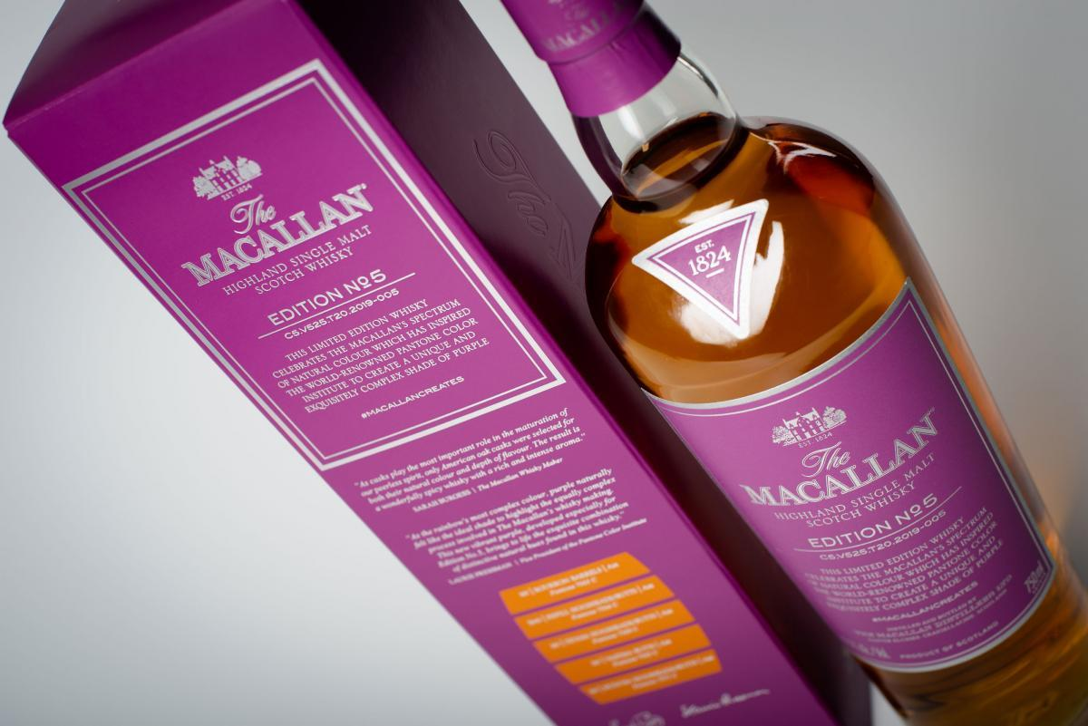 imagen 3 de The Macallan Edition N.5, la cara espirituosa del color púrpura.