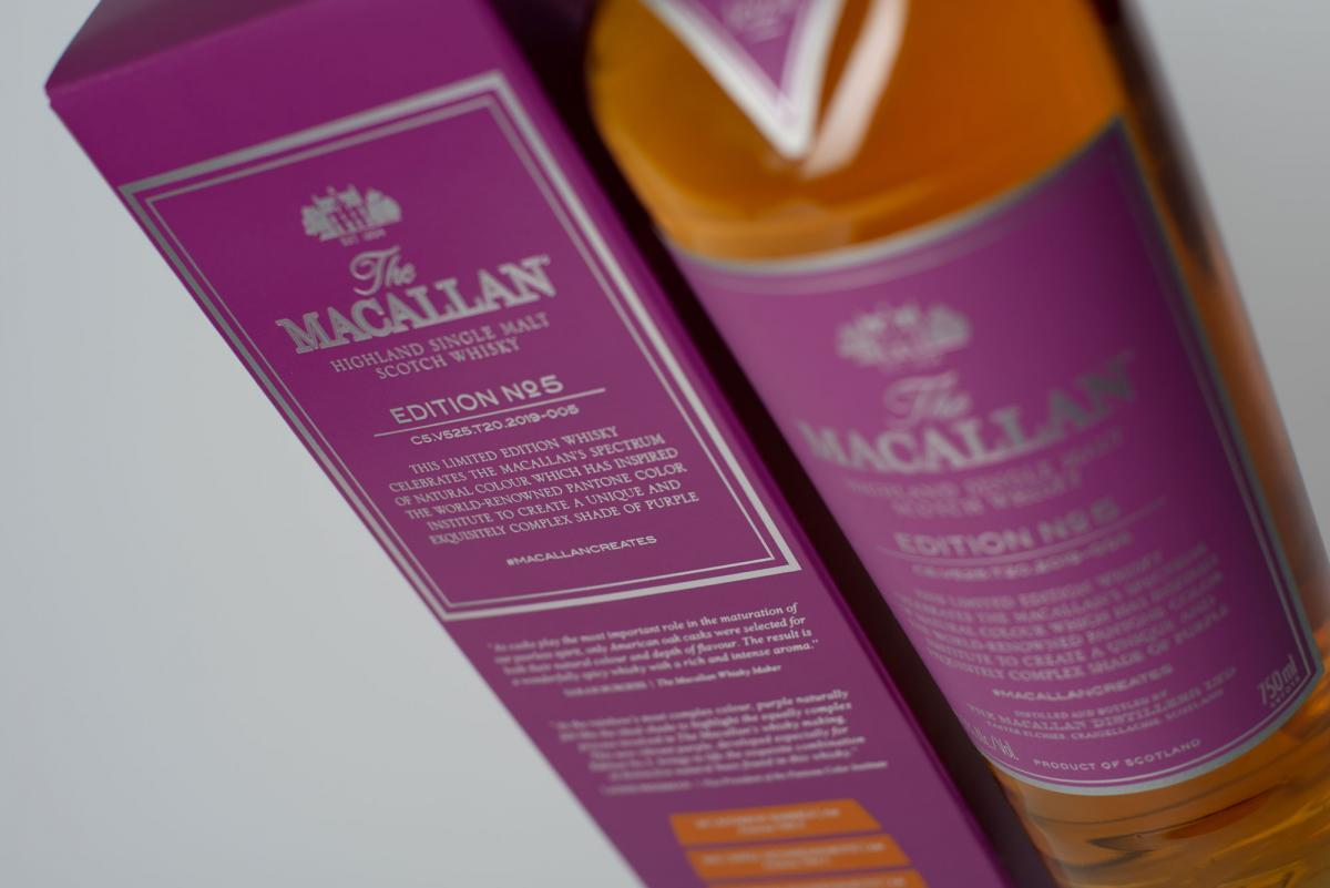 imagen 4 de The Macallan Edition N.5, la cara espirituosa del color púrpura.