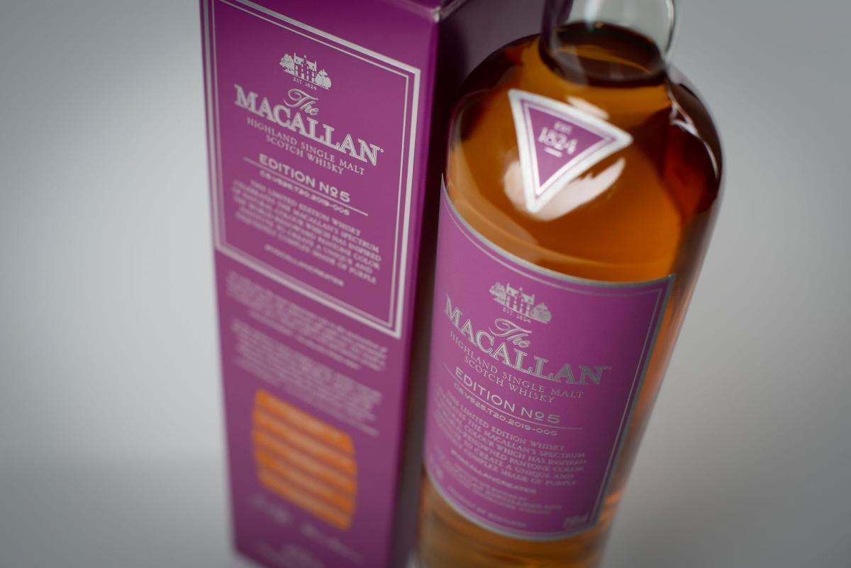 imagen 5 de The Macallan Edition N.5, la cara espirituosa del color púrpura.
