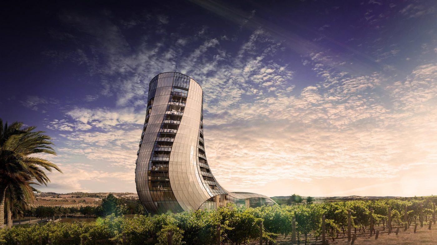 Oscar Seppeltsfield, un espectacular hotel de 6 estrellas en Australia que se inaugurará en 2022.