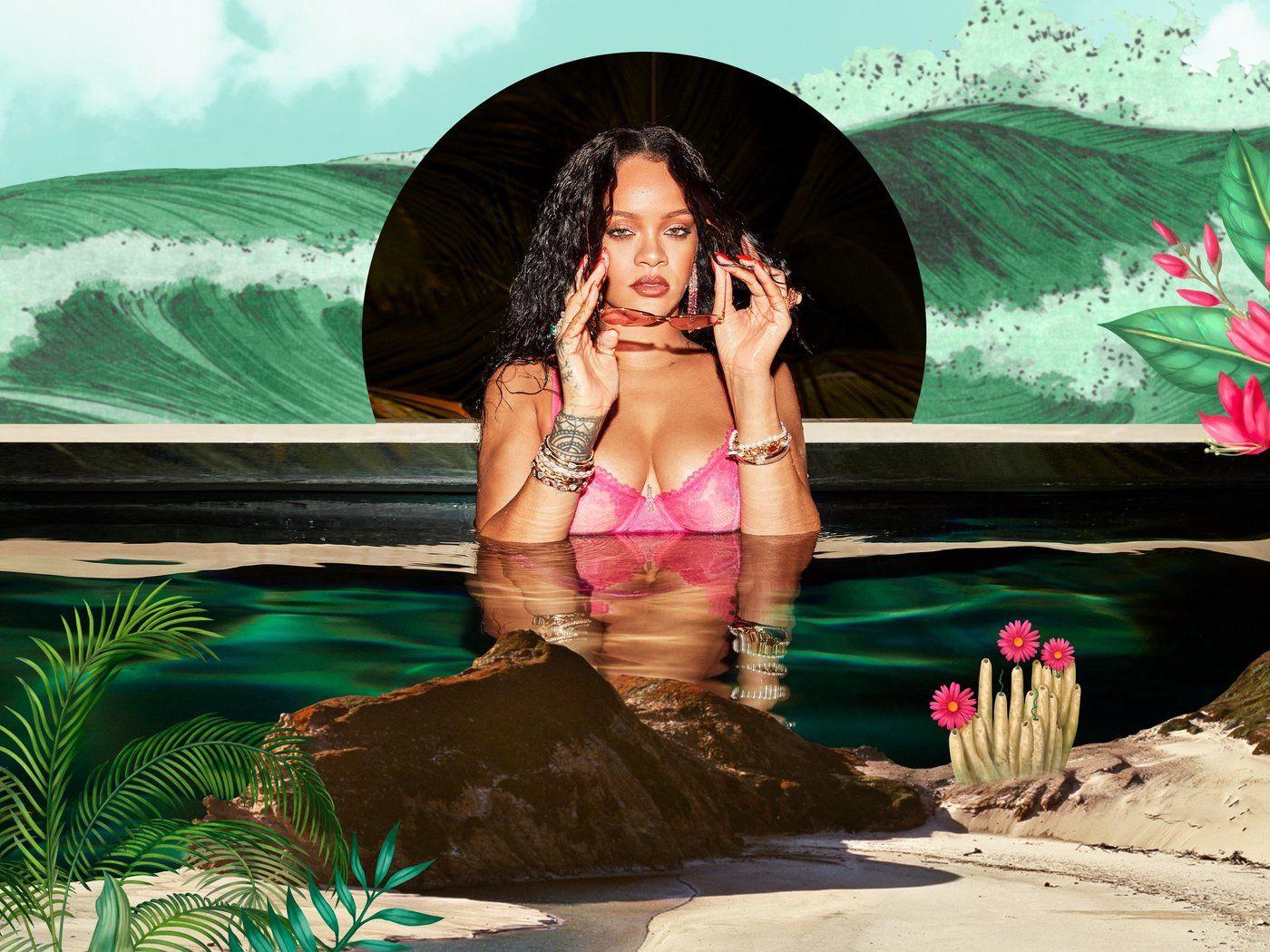 Rihanna en julio lo apuesta todo al rosa.