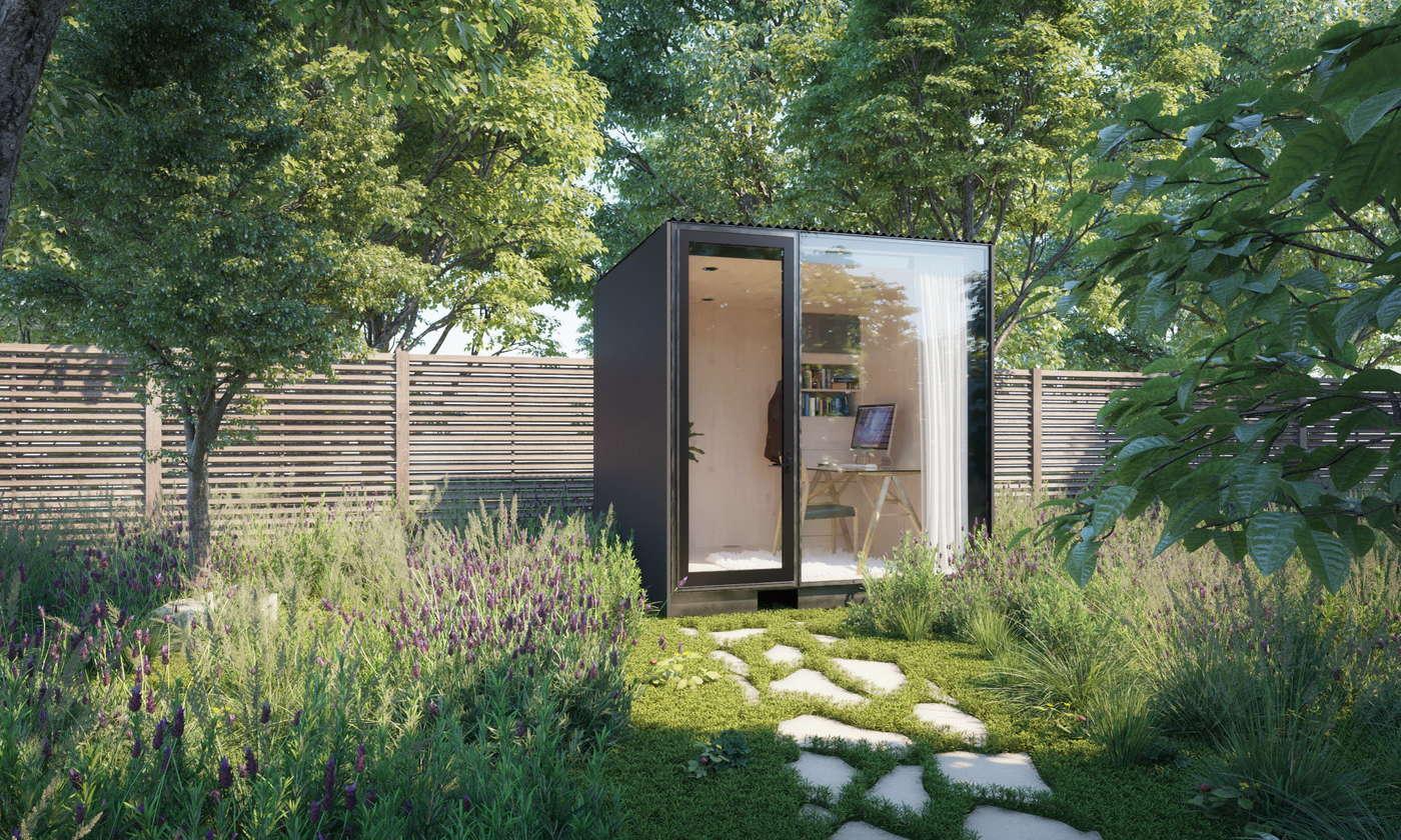 ¿Tienes un patio o un jardín en el que te quepa una pequeña oficina?