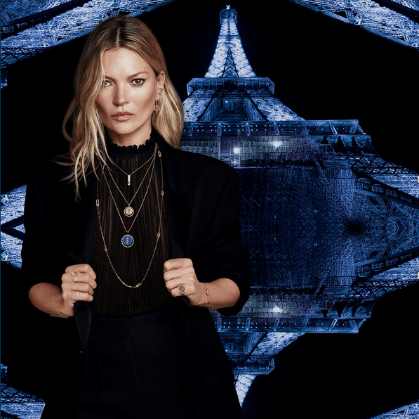Kate Moss se mueve con Messika Paris.