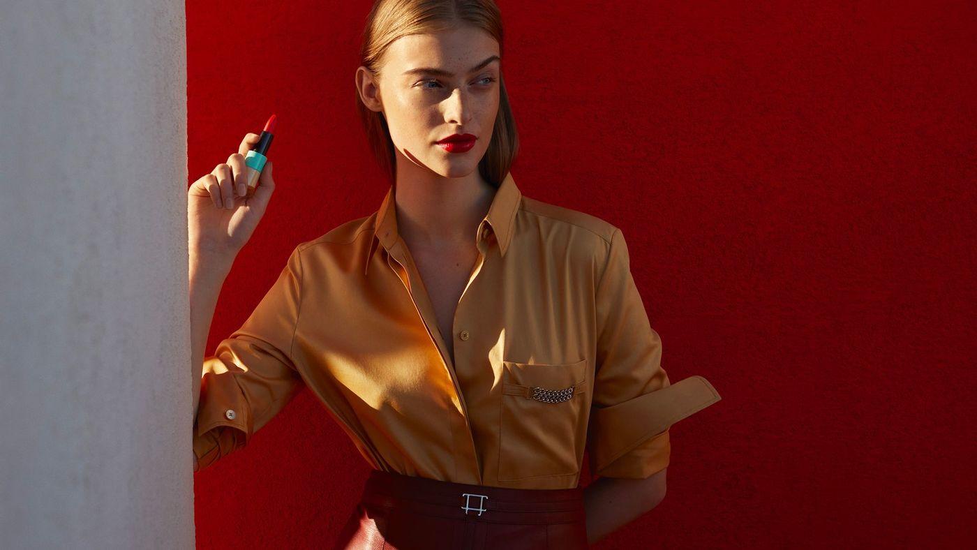 Rouge Hermès y los matices de los labios rojos.