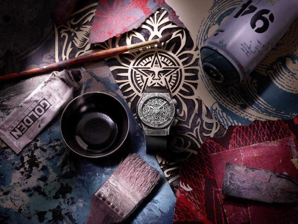 Classic Fusion Chronograph Shepard Fairey: así es la segunda colaboración de Fairey con Hublot.